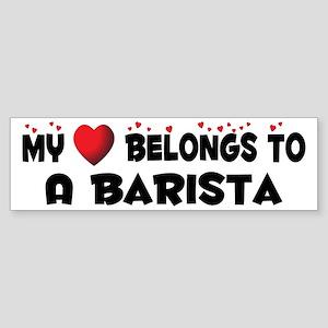 Belongs To A Barista Bumper Sticker