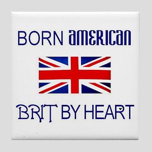 Born American, British by Hea Tile Coaster