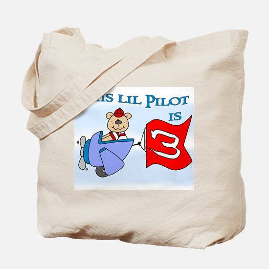 Lil Pilot 3rd Birthday Tote Bag