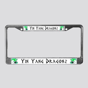 Yin Yang Dragons License Plate Frame