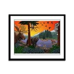 Kid's Canada Wildlife Art Framed Panel Print