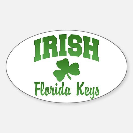 Florida Keys Irish Oval Decal