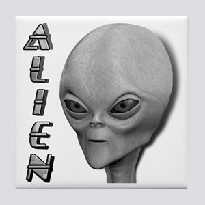 Alien Type 1 Grey Part 2 Tile Coaster