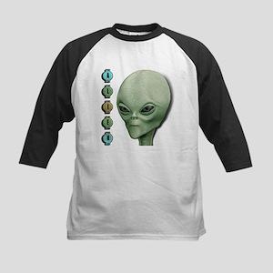 Alien Type 1 Lime Part 2 Kids Baseball Jersey