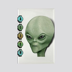 Alien Type 1 Lime Part 2 Rectangle Magnet