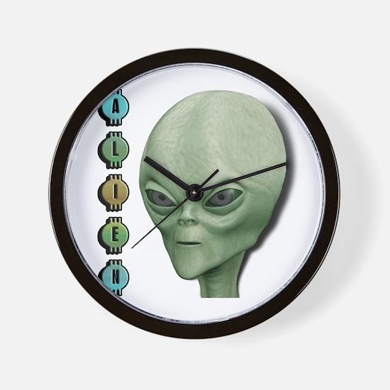 Alien Type 1 Lime Part 2 Wall Clock