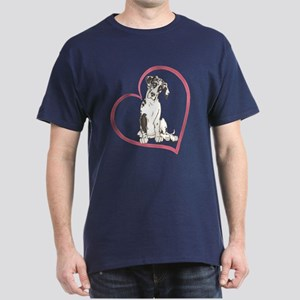 NH Pup Heartline Dark T-Shirt