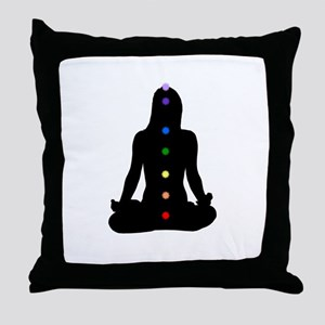 Seven Chakras Throw Pillow