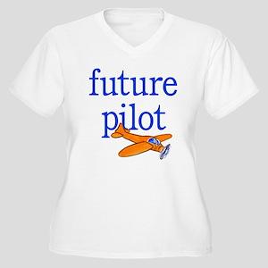 future pilot Women's Plus Size V-Neck T-Shirt
