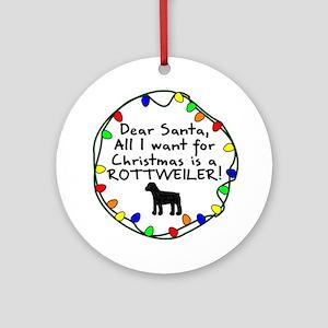 Dear Santa Rottweiler Christmas Ornament