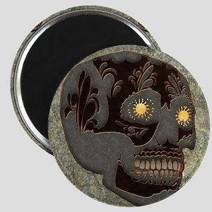 Beautiful sugar skull, steampunk design Magnets