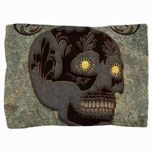 Beautiful sugar skull, steampunk design Pillow Sha