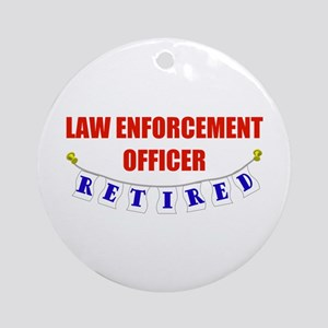 Retired Law Enforcement Officer Ornament (Round)