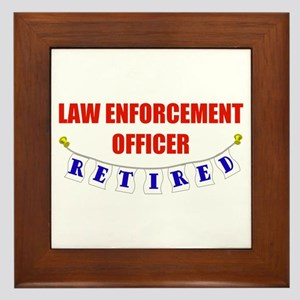 Retired Law Enforcement Officer Framed Tile