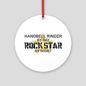 Handbell Ringer Rock Star Ornament (Round)