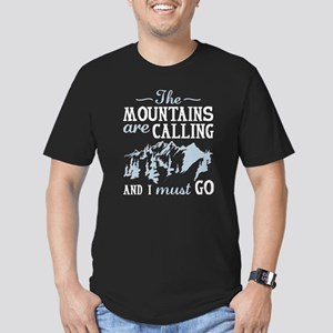 The Mountains Are Calling Men's Fitted T-Shirt (da