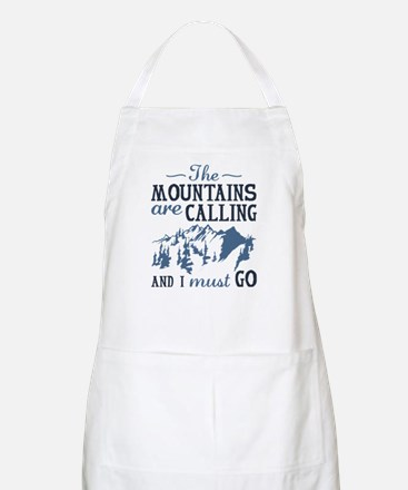 The Mountains Are Calling Apron