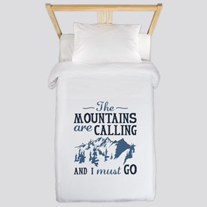 The Mountains Are Calling Twin Duvet