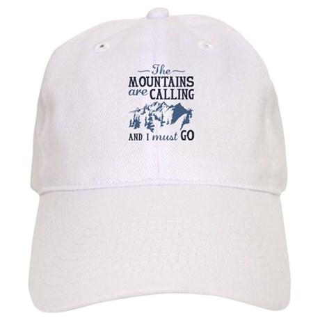 7d14907e4bf0f The Mountains Are Calling Baseball Cap by CreativeJourney