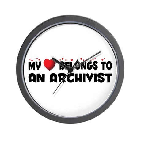 Belongs To An Archivist Wall Clock