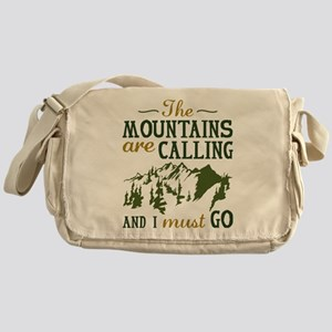 The Mountains Are Calling Messenger Bag