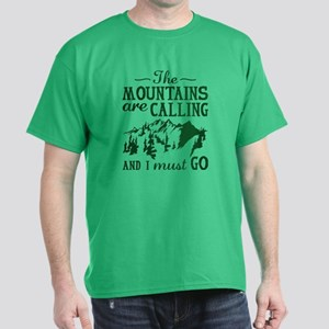 The Mountains Are Calling Dark T-Shirt
