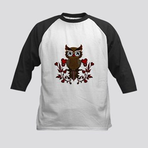 Wonderful steampunk owl on red background Baseball