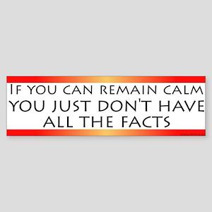 All the Facts Bumper Sticker