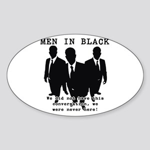 Men In Black 3 Oval Sticker