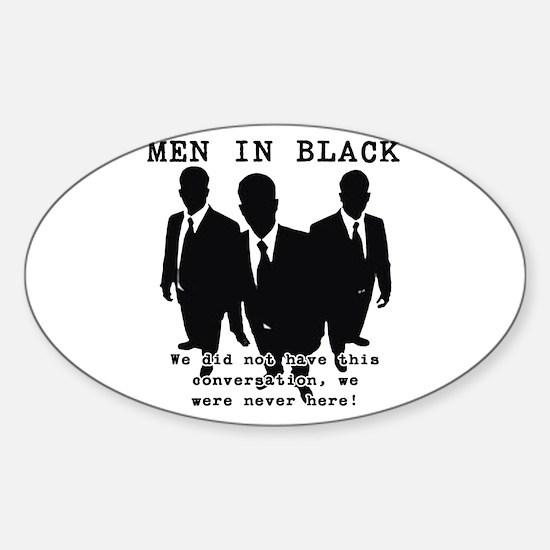 Men In Black 3 Oval Decal