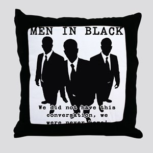 Men In Black 3 Throw Pillow