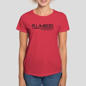 Plumber Joke #2 Women's Dark T-Shirt