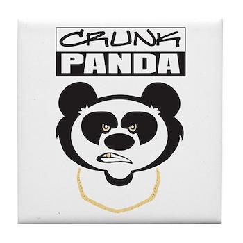 Crunk Panda™ Tile Coaster