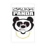 Crunk Panda™ Sticker (Rectangle)