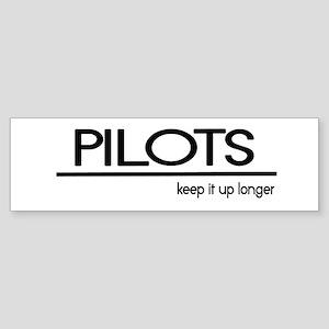 Pilot Joke Bumper Sticker