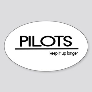 Pilot Joke Oval Sticker