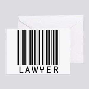 Lawyer Barcode Greeting Card