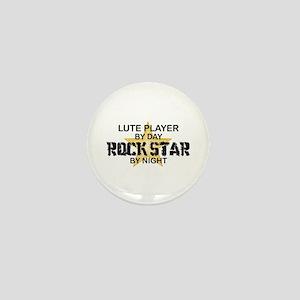 Lute Player Rock Star Mini Button