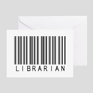 Librarian Barcode Greeting Card