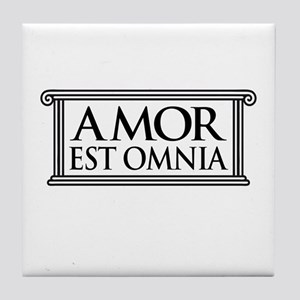 Love is all Love Amor Tile Coaster