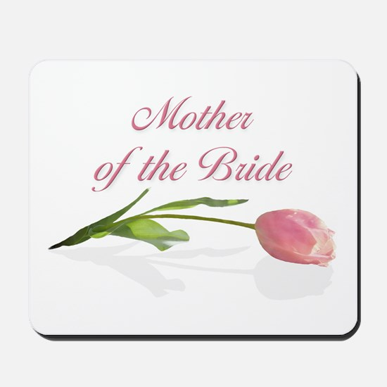 Pink Tulip Mother of Bride Mousepad
