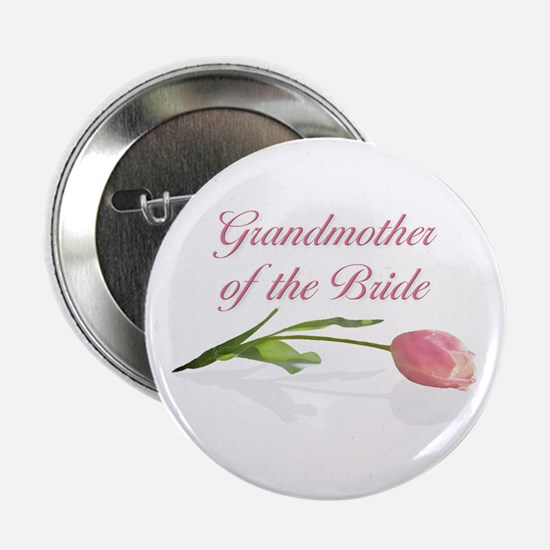 Pink Tulip Grandmother of Bride Button