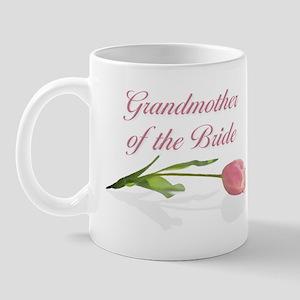 Pink Tulip Grandmother of Bride Mug