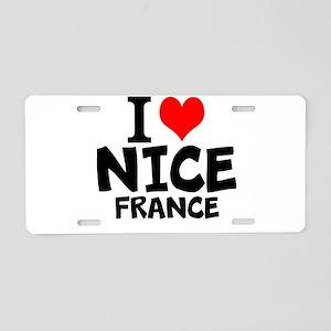 I Love Nice, France Aluminum License Plate