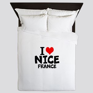 I Love Nice, France Queen Duvet