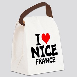 I Love Nice, France Canvas Lunch Bag