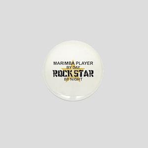 Marimba Player Rock Star Mini Button