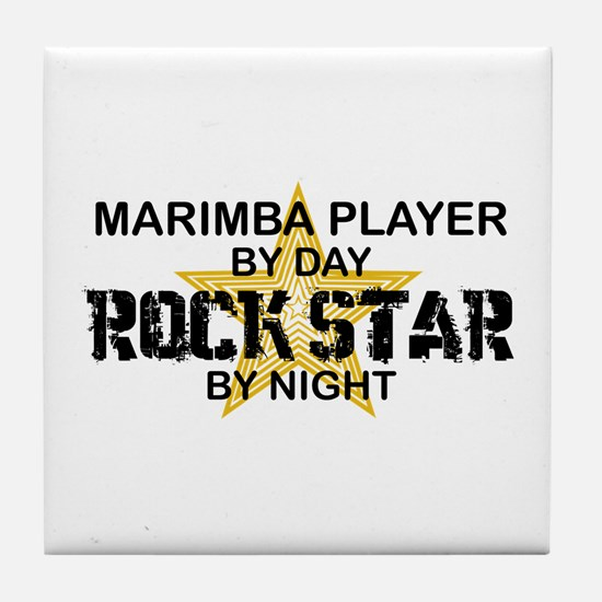 Marimba Player Rock Star Tile Coaster