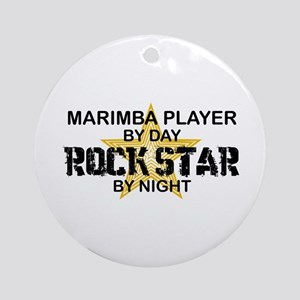 Marimba Player Rock Star Ornament (Round)