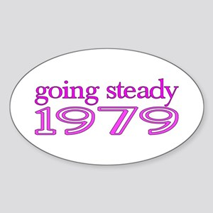 going steady 1979 Sticker (Oval)